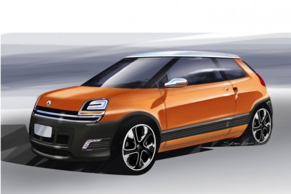 Предполагаемый вид компактного хэтчбека Renault 5