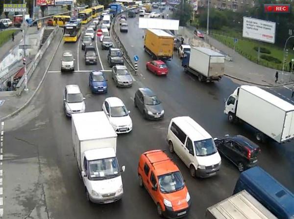 Пробки в Киеве: Чоколовский бульвар - улица Уманская