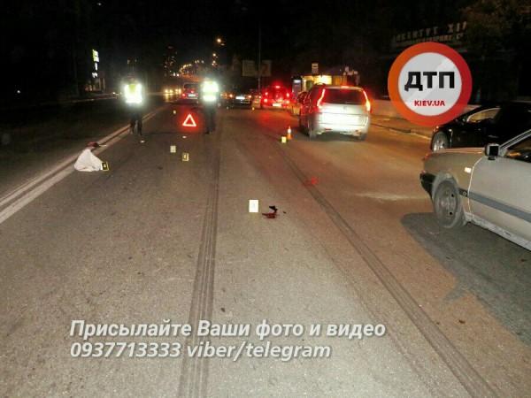 ВКиеве Lanos насмерть сбил пешехода-нарушителя