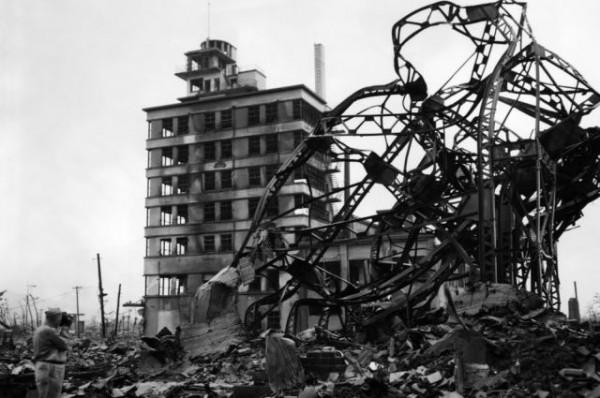 Хиросима после бомбардировки