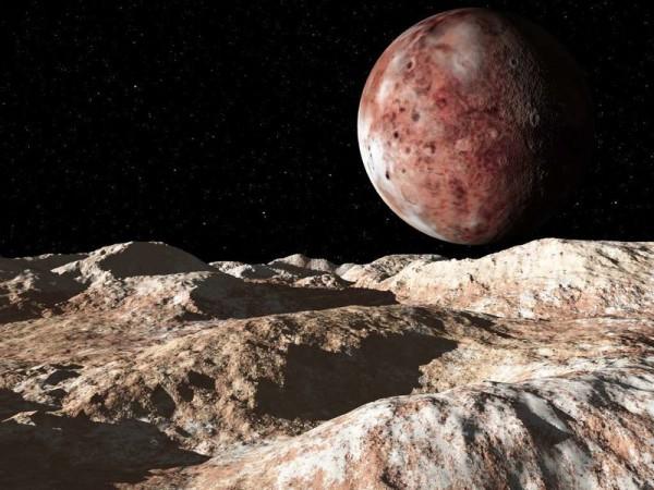 Вид на Плутон с его спутника