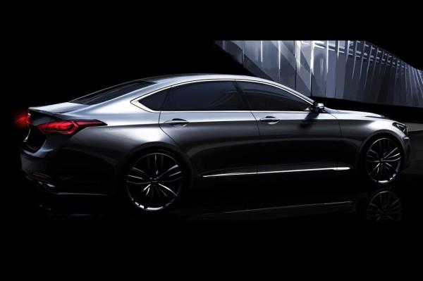 Новый Hyundai Genesis. Официальный рендер