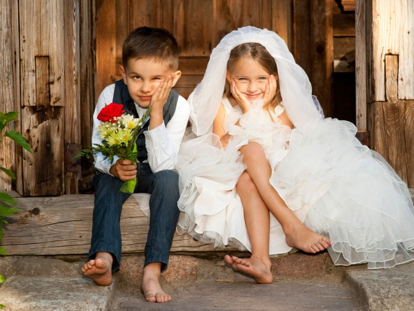 дети на свадьбе фото