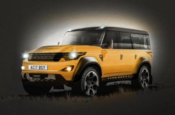 Рендерное изображение будущего Land Rover Defender
