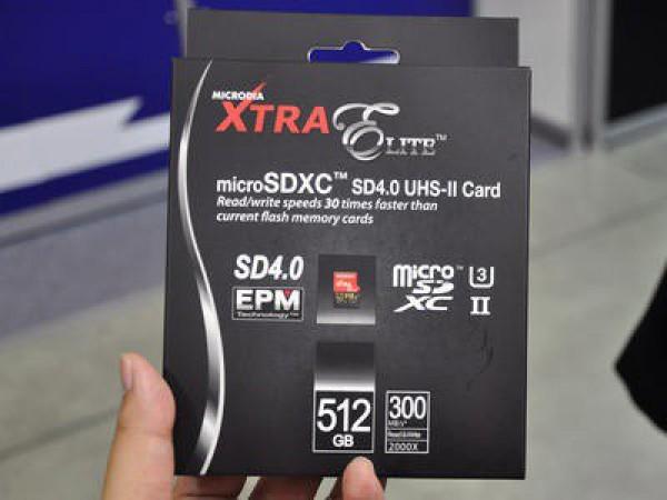 Карта памяти поддерживает скорость передачи данных до 300 Мбит/с