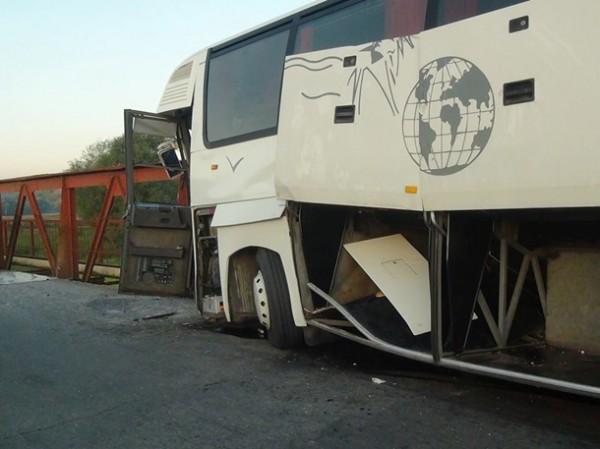 Авария автобуса на Прикарпатье