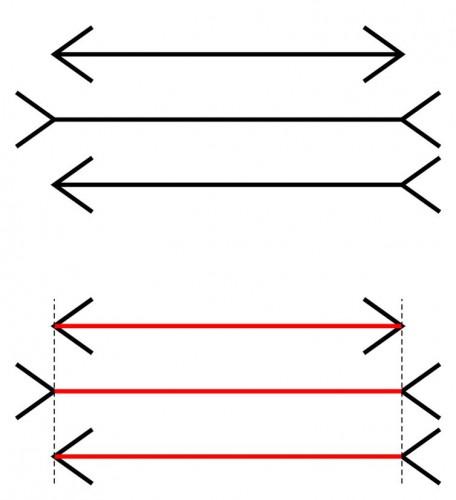 Иллюзия со стрелками