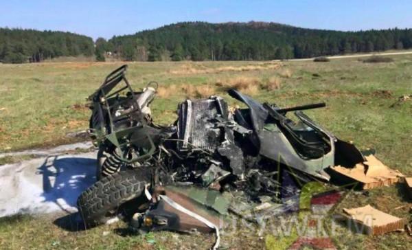 Последствия падения Humvee