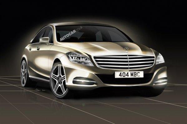 Неофициальная иллюстрация нового Mercedes S-Class