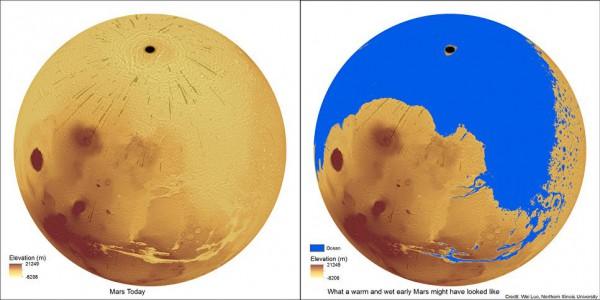 Марс сейчас и в прошлом