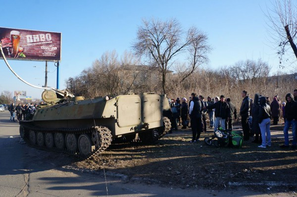 Место аварии в Константиновке