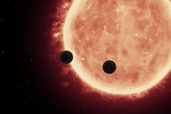 Предполагаемый вид планет возле звезды
