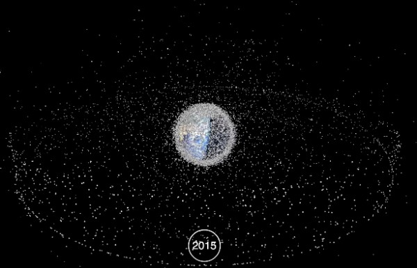 Наша орбита засорена космическим мусором