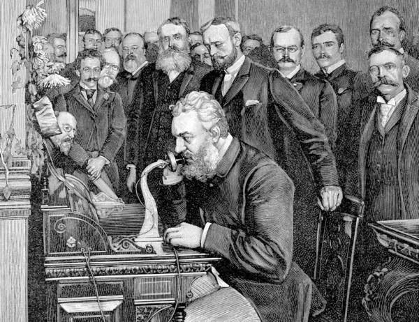 Демонстрация первого телефона
