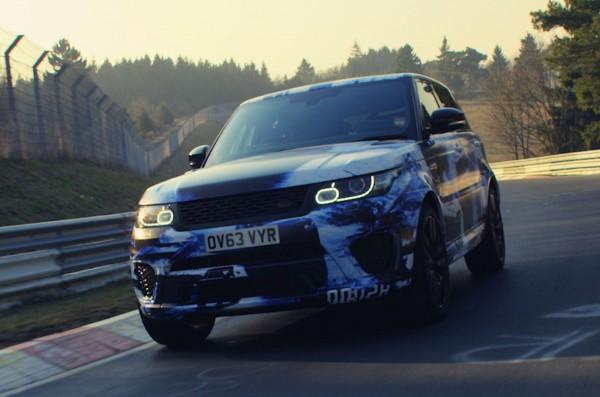 Range Rover Sport SVR на тестах