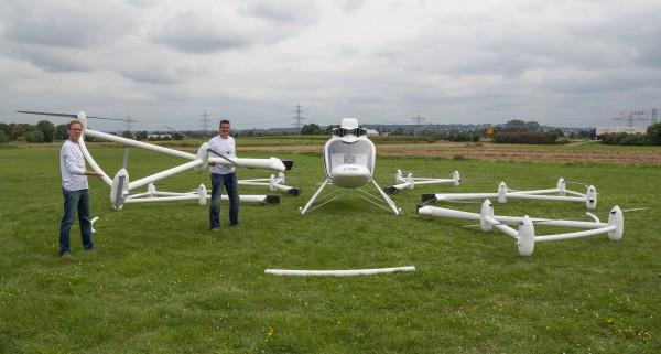 Сборка мультикоптера Volocopter