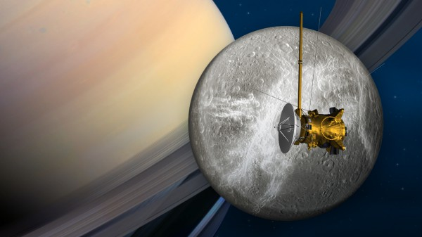 Спутник Сатурна в представлении художника NASA
