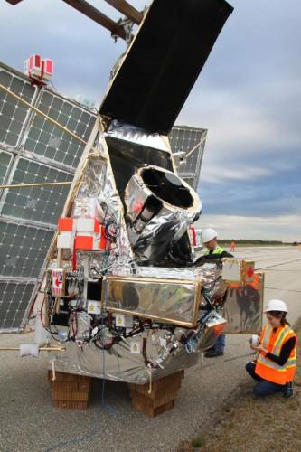 Последние приготовления SuperBIT к запуску со стратосферной аэростатной базы Тимминс в Канаде в сентябре 2019 года