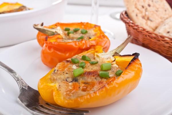 Перец с твердым и плавленым сыром