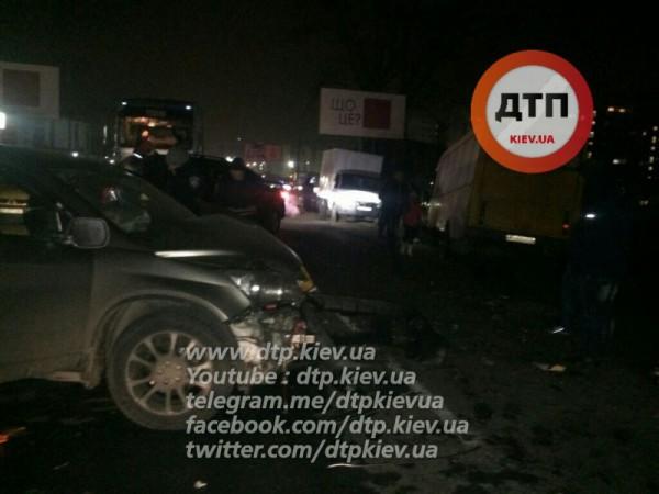 Авария с маршруткой в Вишневом