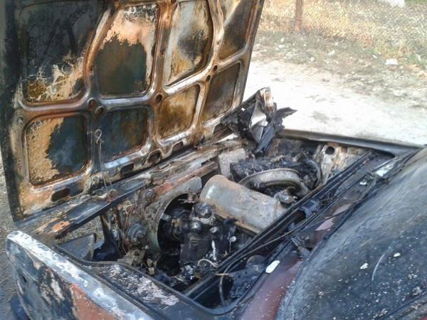 Журналист считает, что машину подожгли