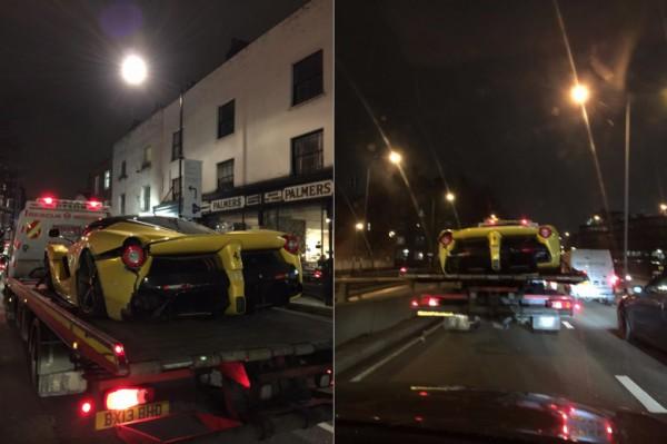 В Лодоне разбили Ferrari