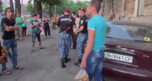Место аварии в Одессе