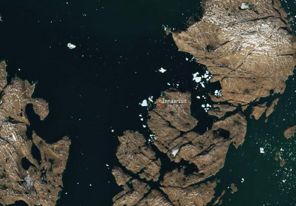 Айсберг со спутника