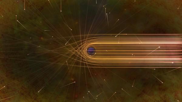 Пути фотонов возле черной дыры