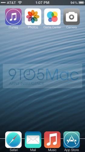 Новый рабочий стол iOS 7