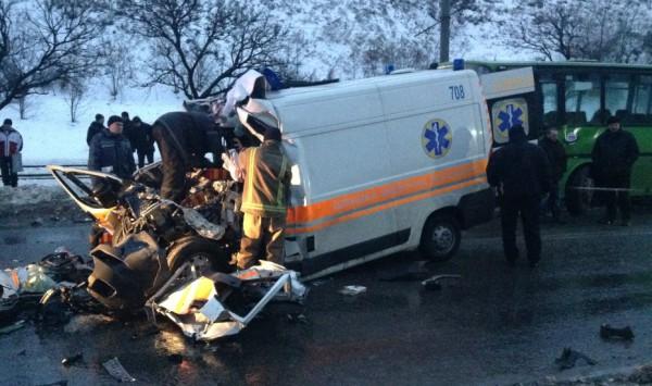 Авария со скорой в Харькове