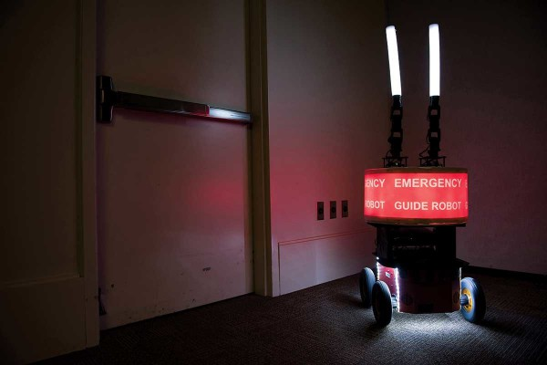 Робот изображал из себя спасателя