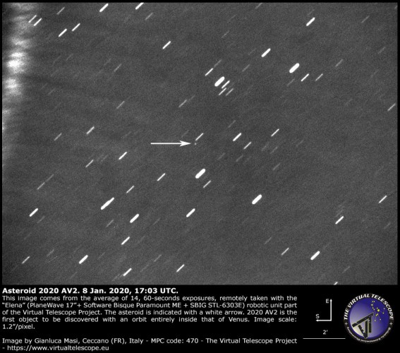 Обнаруженный астероид