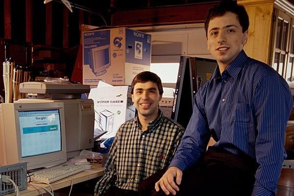 Брин и Пейдж - основатели Google