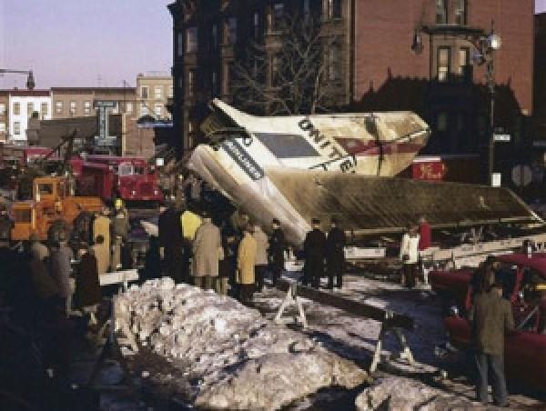 Место падения самолетов