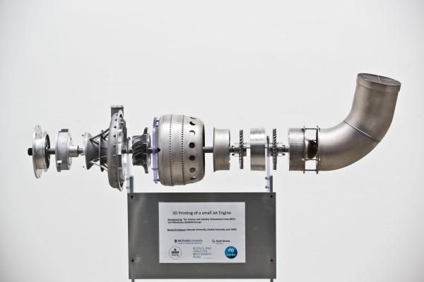 Реактивный двигатель, напечатанный на принтере