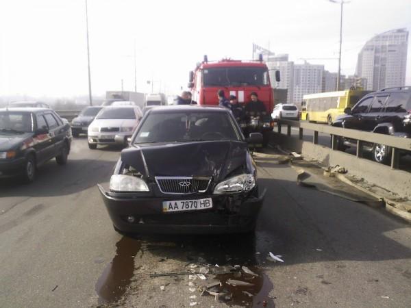 Водитель не успел затормозить