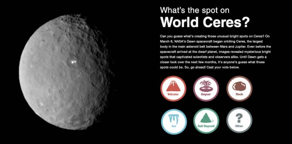 Инфографика: Что за пятна на Церере?