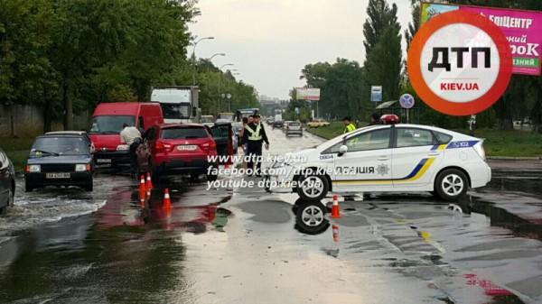 Патрульные попали в аварию