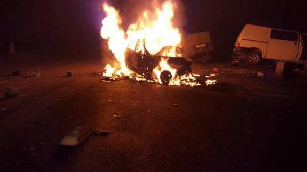 ДТП и пожар под Одессой