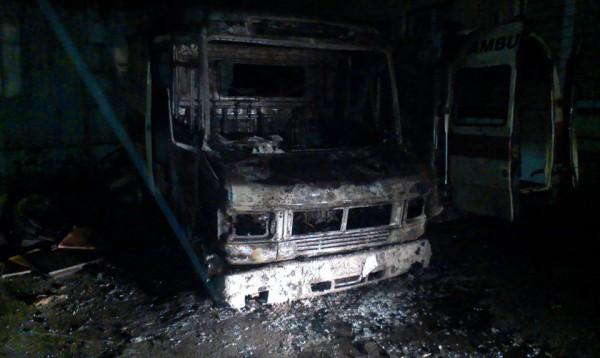 Скорая сгорела в Киеве