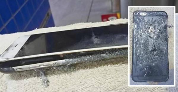 Телефон взорвался во время зарядки
