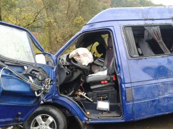 Жуткое ДТП на Закарпатье, столкнулись два микроавтобуса