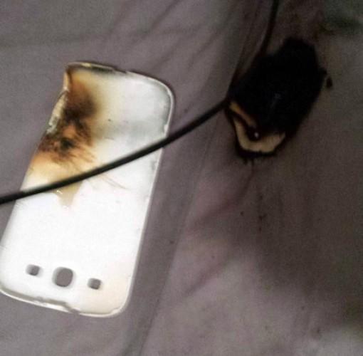 Выгоревший смартфон