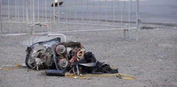 Пилот упал на землю