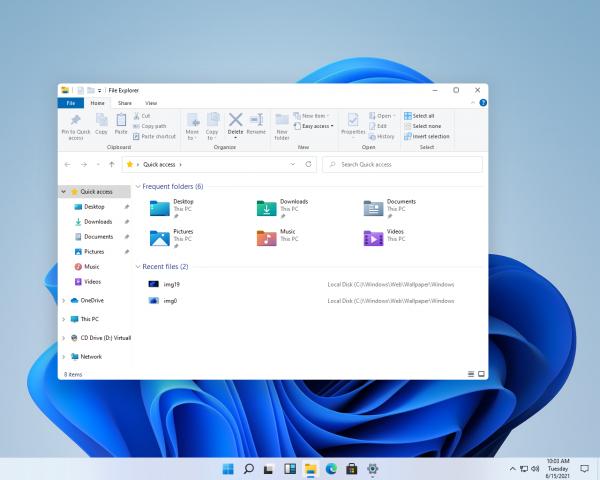 Проводник в Windows 11.