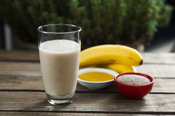 Кофейный смузи с бананом