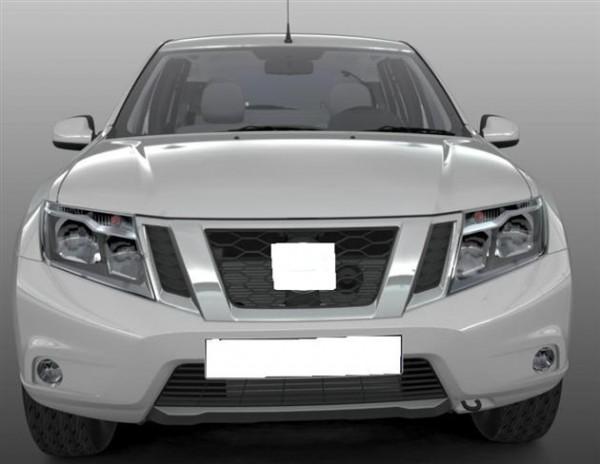 Внешне автомобиль напоминает уменьшенный Nissan Patrol