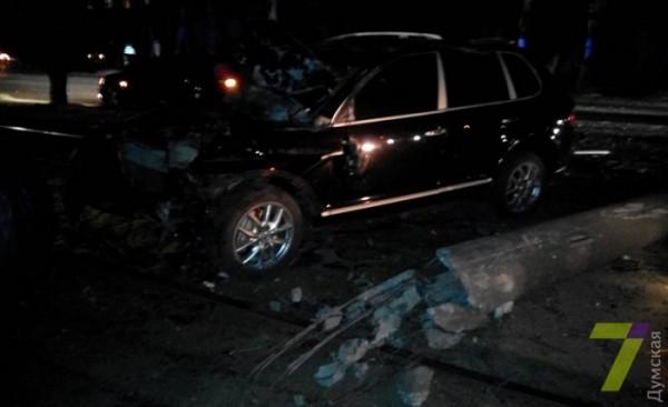 Авария Porsche в Одессе