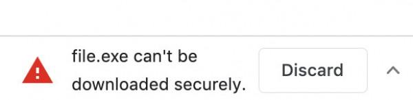 Предупреждение о незащищенном файле